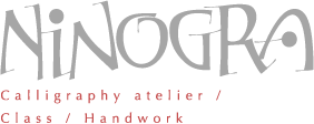 ninogra|Calligraphy atelier/Class/Menu